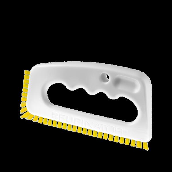 Voegenborstel WIT-GEEL (industrie, badkamer) – Voegenborstel   Fugenial